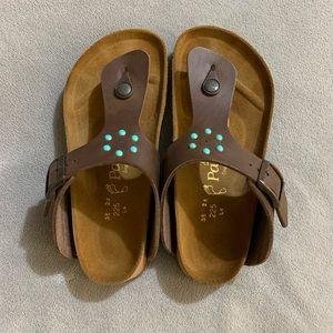 Papillio Birko Flor Dark Brown Jewel Sandals